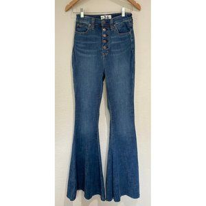 Free People Flare Hight Waist Jeans Size 26